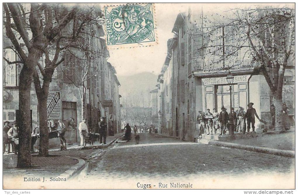 13 - Cuges - Rue Nationale (cercle De Renaissance) - Other Municipalities
