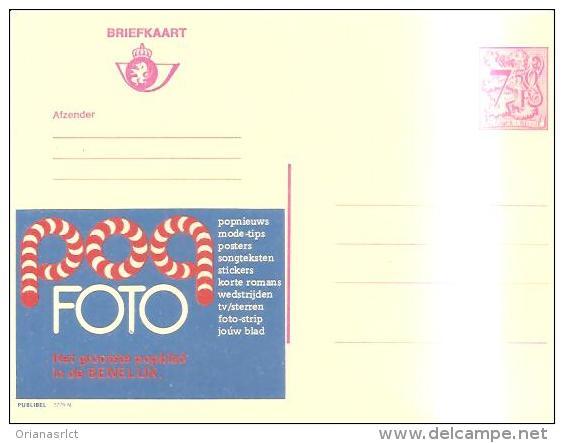79544)intero Postale Pubblicitario Pop Foto Het Grootste Popblad In De BENELUXfr.7,5 - Enteros Postales