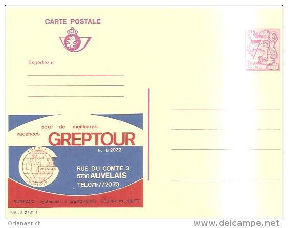 79552) BELGIO Intero Postale Pubblicitario  Da 7.5fr. Nuova Greptour - Werbepostkarten