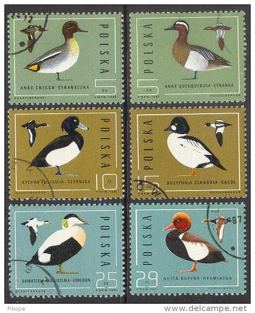 Polen 1985 : Mi. 2998/03 Ø - Enten / Ducks   --   (Price Is Inclusive Of Delcampe Fees)  .. A1008 - 1944-.... Republiek