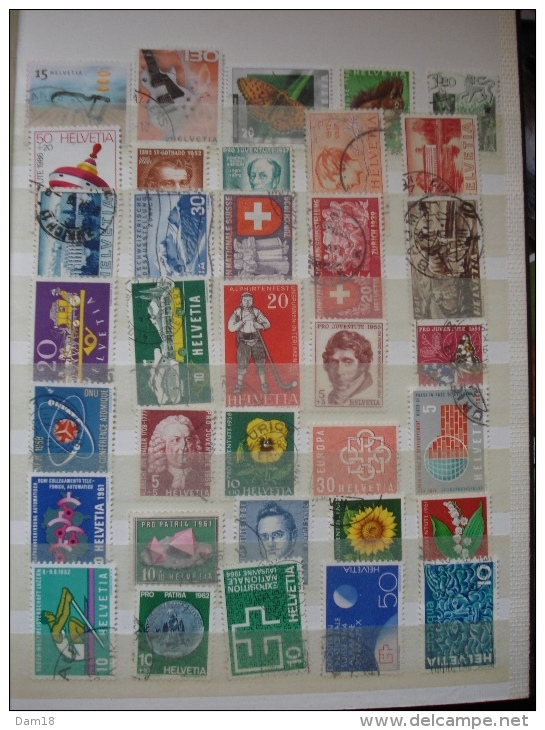 SUISSE COLLECTION DE 140 TIMBRES DIFFERENTS VOIR 4 PHOTOS JOINTES - Suisse