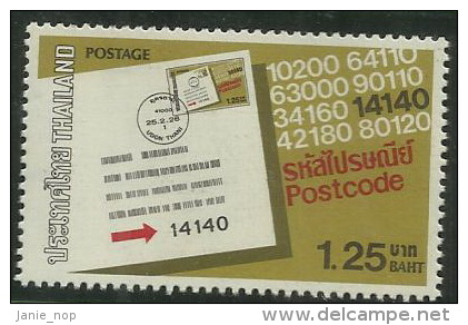 Thailand 1983 Postcode MNH - Thaïlande