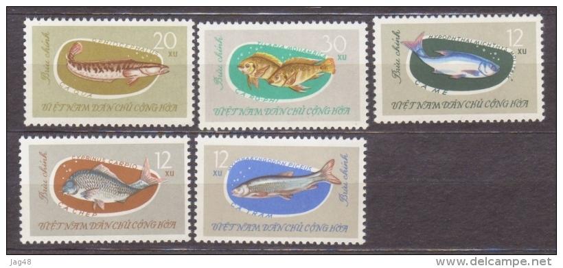 VIETNAM. 1963/Fish/5v.. MintNH. - Vietnam