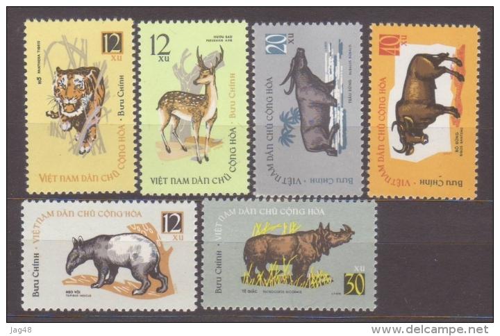 VIETNAM. 1964/Animals/6v.. MintNH. - Vietnam