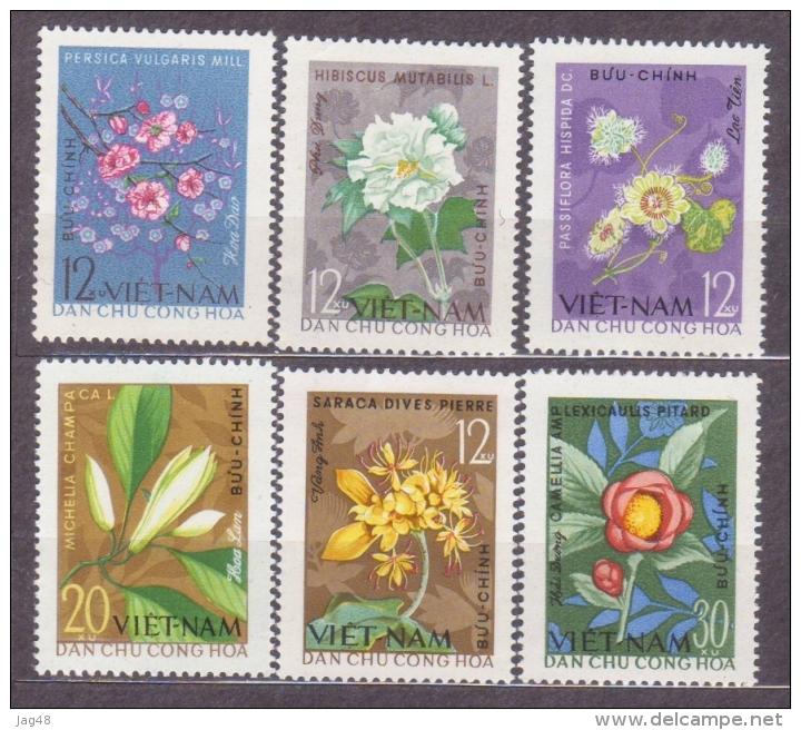 VIETNAM.   1964/Flowers/6v.. MintNH. - Vietnam