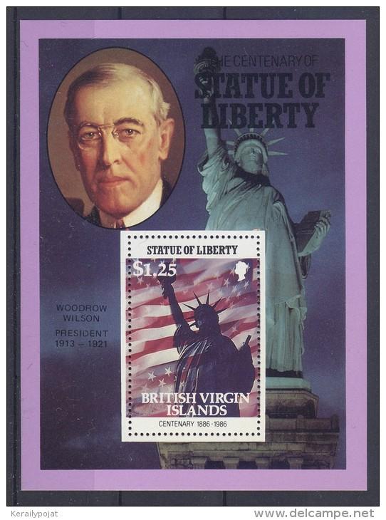 British Virgin Islands - 1986 Statue Of Liberty 1.25$ Block MNH__(TH-155) - British Virgin Islands