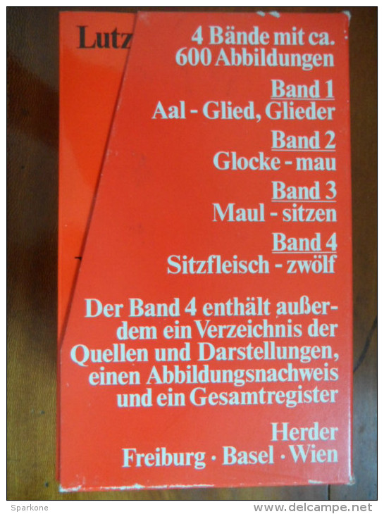 Lexikon Der Sprichwörtlichen Redensarten (Lutz Röhrich) éditions Herder De  1973. Band 1-2-3-4 - Dictionnaires