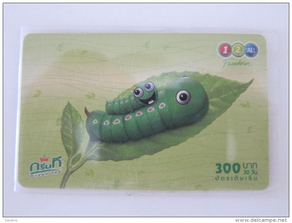 Prepaid Phonecard, Green Tea,used - Thaïlande