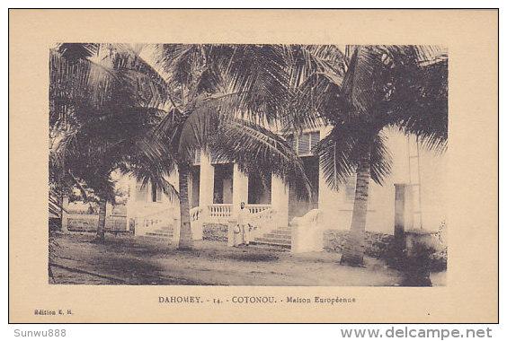 Dahomey -Cotonou - Maison Européenne (animée) - Dahomey