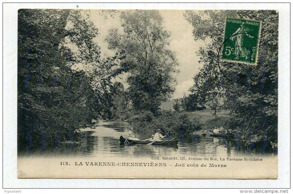 CP , 94 , LA VARENNE-CHENNEVIERES , Joli Coin De Marne - Autres Communes