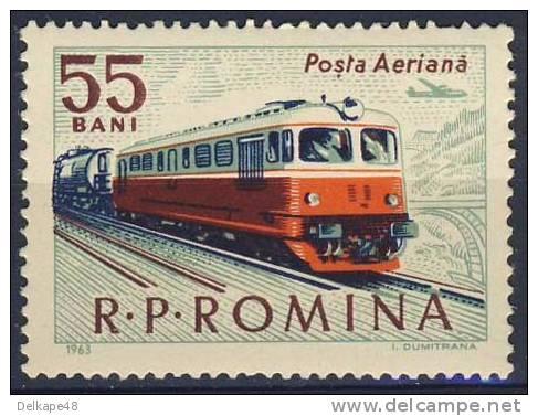 Romana Romania Roumanie 1963 Mi 2162 YT A185 Aero * MH - Class 060-DA Diesel-electric Locomotive (1959) - Treinen