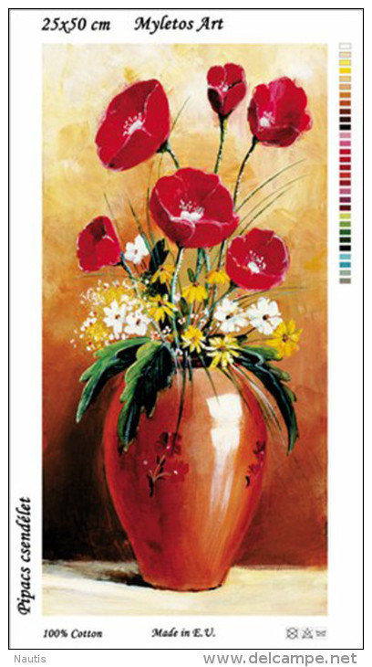 New Tapestry, Gobelin, Picture, Print, Floral Still Life, Red Flowers - Other