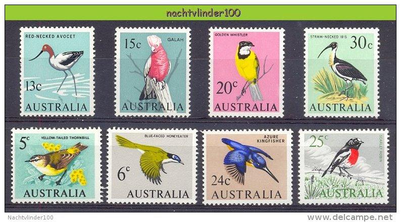Nbm0113 FAUNA VOGELS IJSVOGEL PARROT IBIS KINGFISHER BIRDS VÖGEL AVES OISEAUX AUSTRALIA 1966 PF/MNH - Birds