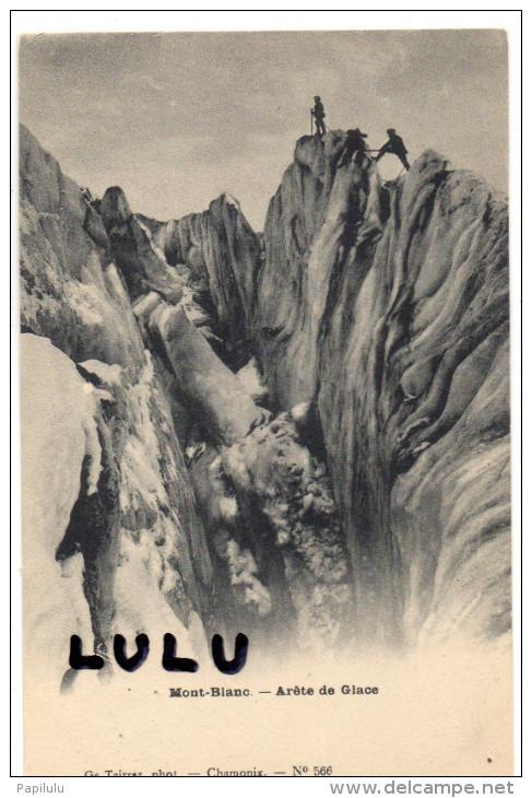 Alpiniste , Arète De Glace Au Mont Blanc - Alpinisme