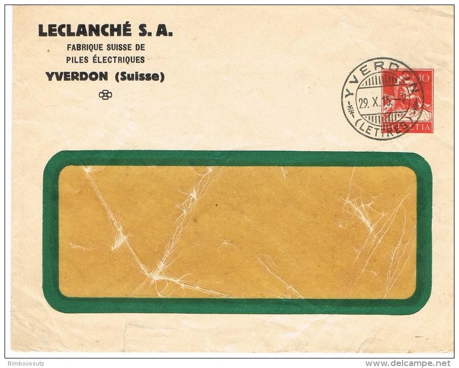 Schweiz GSB 29.X.15  Leclanche S.A. - Interi Postali