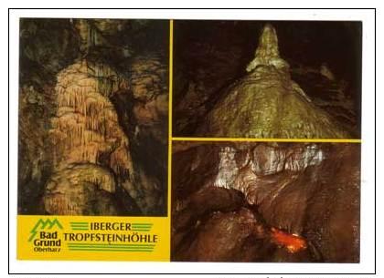 Bad Grund , Iberger Tropfsteinhöhle , Mehrbildkarte , Wasserfall - Backofen Der Zwerge - Zwergenkönig Hübich - Bad Grund