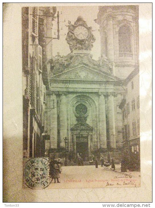 LUNÉVILLE - 54 - ÉGLISE SAINT JACQUES - PORTAIL De L'HORLOGE - DDD -  CPA DOS SIMPLE - - Luneville