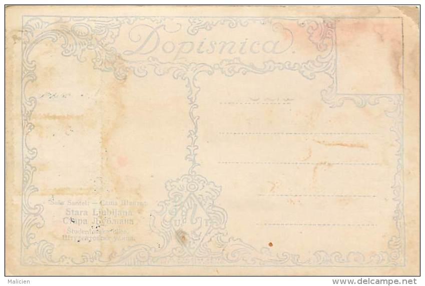 Ref 366- Slovenie - Ljubljana  /-carte Décollée -voir Dans Description -/see Description - - Slovénie