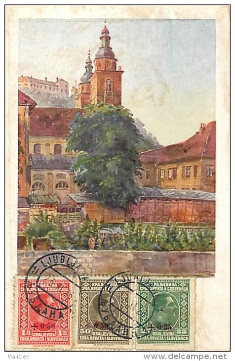Ref 365- Slovenie - Ljubljana  /-carte Décollée -voir Dans Description -/see Description - - Slovénie