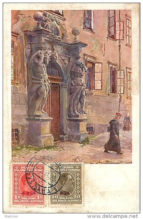 Ref 364- Slovenie - Ljubljana  /-carte Décollée -voir Dans Description -/see Description - - Slovénie