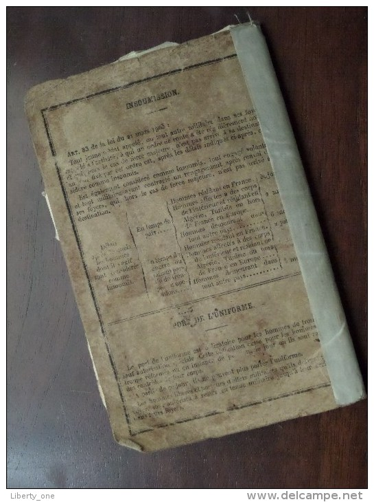 Classe 1920 - Bureau De Recrutement Lille 1933 ( SION Né 1900 Tourcoing / Details Zie Foto ) Visa 1939 / 1940 ! - Vieux Papiers