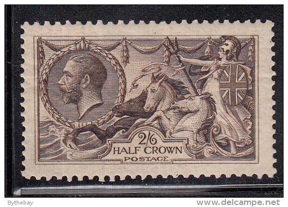 Great Britain MH Scott #173 2sh6p ´Britannia Rule The Waves´ - Seahorses - Neufs