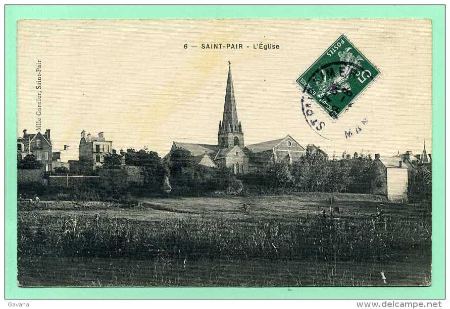 50 SAINT-PAIR - L'église - Saint Pair Sur Mer