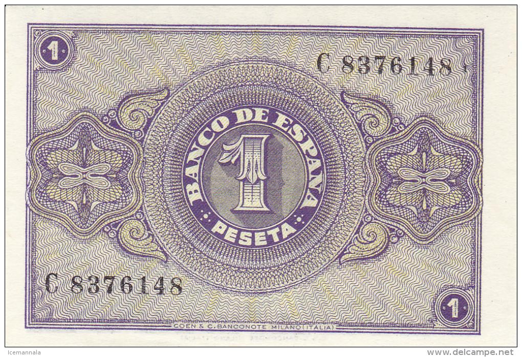 1 PTS ESTADO ESPAÑOL 1938 - [ 3] 1936-1975 : Régence De Franco