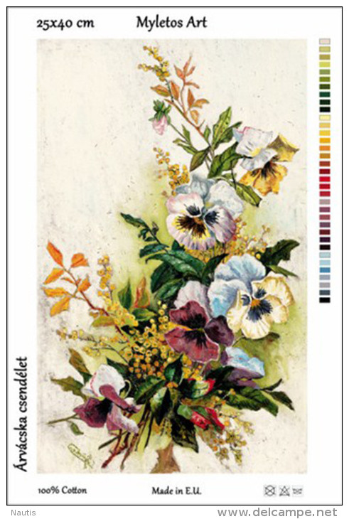 New Tapestry, Gobelin, Picture, Print, Floral Still Life, Violet Bouquet - Other
