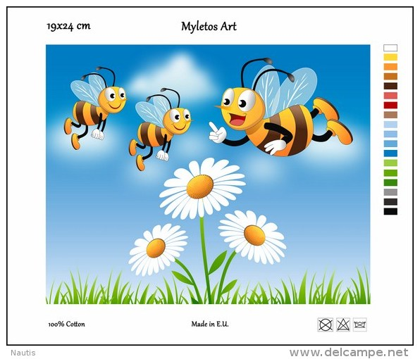 New Tapestry, Gobelin, Picture, Print, Tale, Flower, Bees - Creative Hobbies
