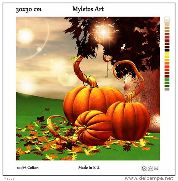 New Tapestry, Gobelin, Picture, Print, Tale, Autumn, Pumpkin, Halloween - Other