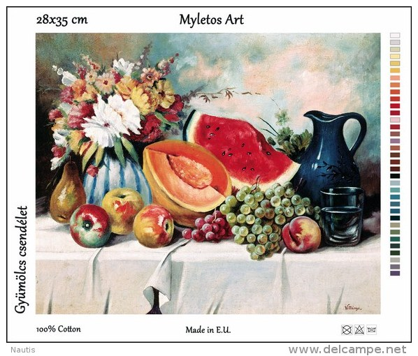 New Tapestry, Gobelin, Picture, Print, Still Life, Fruits, Melon, Grape - Creative Hobbies