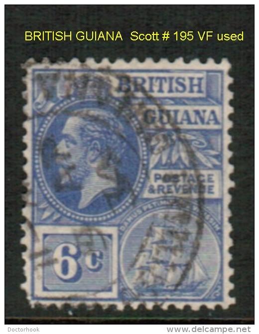 BRITISH GUYANA   Scott  # 195 VF USED - British Guiana (...-1966)