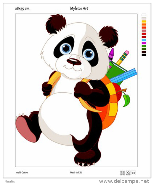 New Tapestry, Gobelin, Picture, Print, Tale, Animal, Panda Bear, School - Other