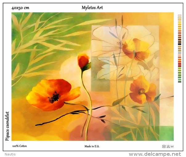 New Tapestry, Gobelin, Picture, Print, Floral Still Life, Flower, Poppy - Other