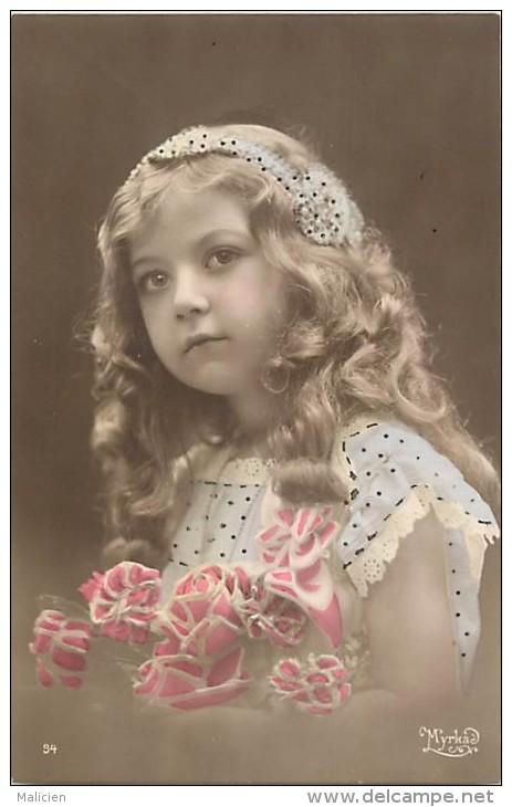 Themes - Enfants - Ref 435 -  Fantaisie  -portrait De Fillette  - Fillettes  -   Carte Bon Etat - - Portraits