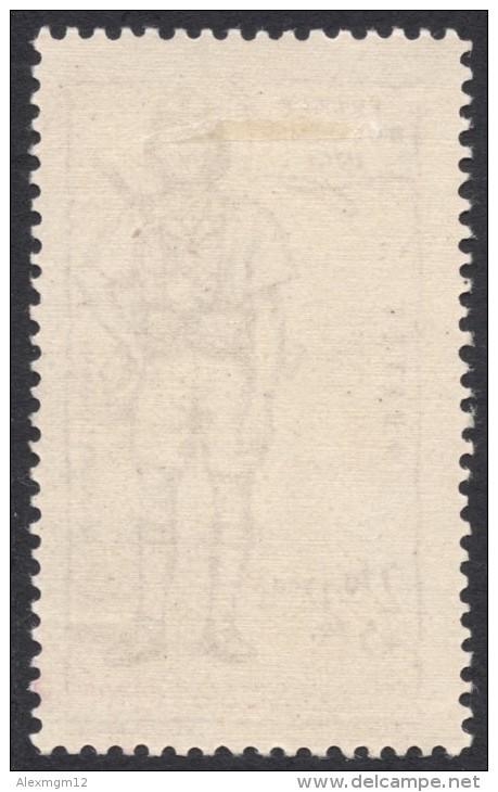 French India, 2 Fa. 12 Ca. + 5 Fa. 1941, Sc # B13, MH. - India (1892-1954)
