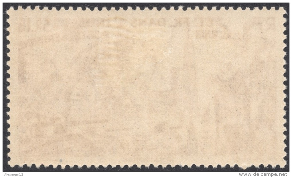 French India, 3 R. 1 Fa. 1946, Sc # C13, MH. - India (1892-1954)