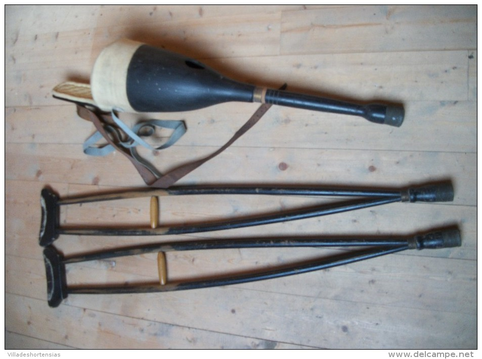 jambe de bois et b quille de poilu authentique 14 18 1 re guerre mondiale ww1. Black Bedroom Furniture Sets. Home Design Ideas