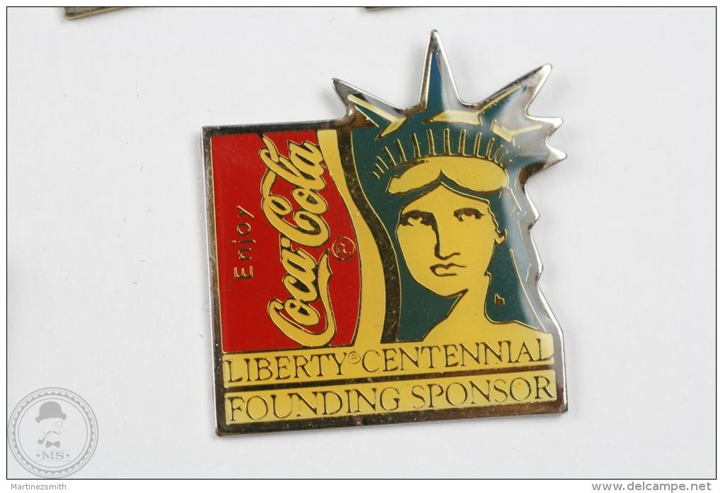 Enjoy Coca Cola - Liberty Centennial Founding Sponsor - Pin Badge #PLS - Coca-Cola