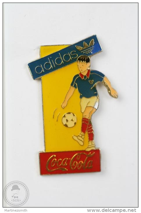 Coca Cola & Addidas - Football Pin Badge #PLS - Coca-Cola