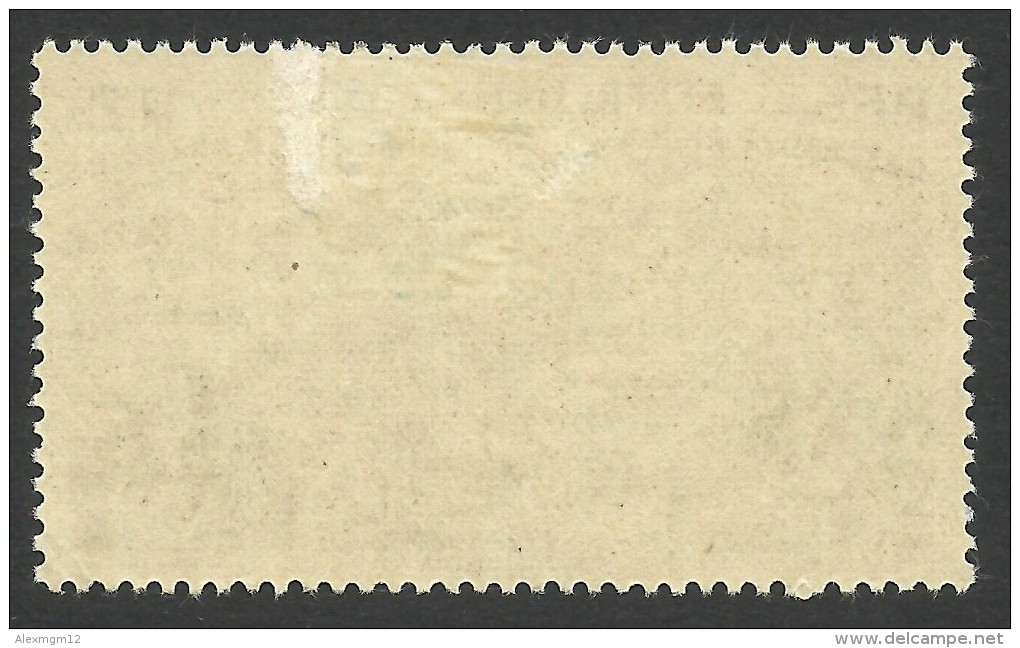 French India, 1 R. 2 Fa. 1946, Sc # C11, MH. - India (1892-1954)
