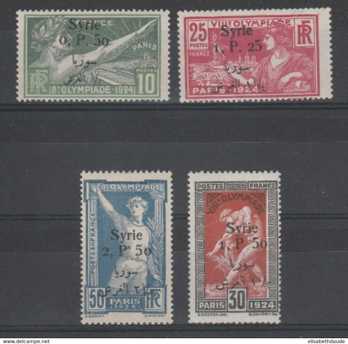 SYRIE - YVERT N°149/152 * - COTE = 168 EUROS - CHARNIERES  - JEUX OLYMPIQUES - Syria (1919-1945)