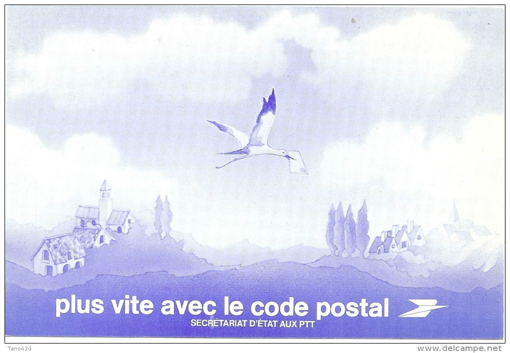 """LINT4 - PSEUDO ENTIER CARTE POSTALE """"PLUS VITE AVEC LE CODE POSTAL"""" - Entiers Postaux"""