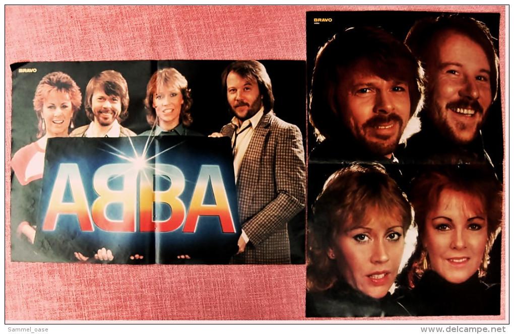 2 Kleine Poster  ABBA  ,  Von Bravo Ca. 1982 - Plakate & Poster