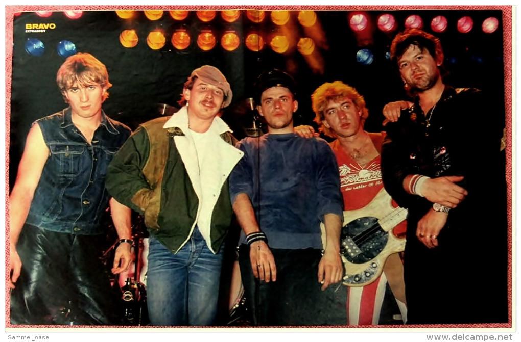 Kleines Musik Poster  -  Gruppe Extrabreit  -  Von Bravo Ca. 1982 - Manifesti & Poster