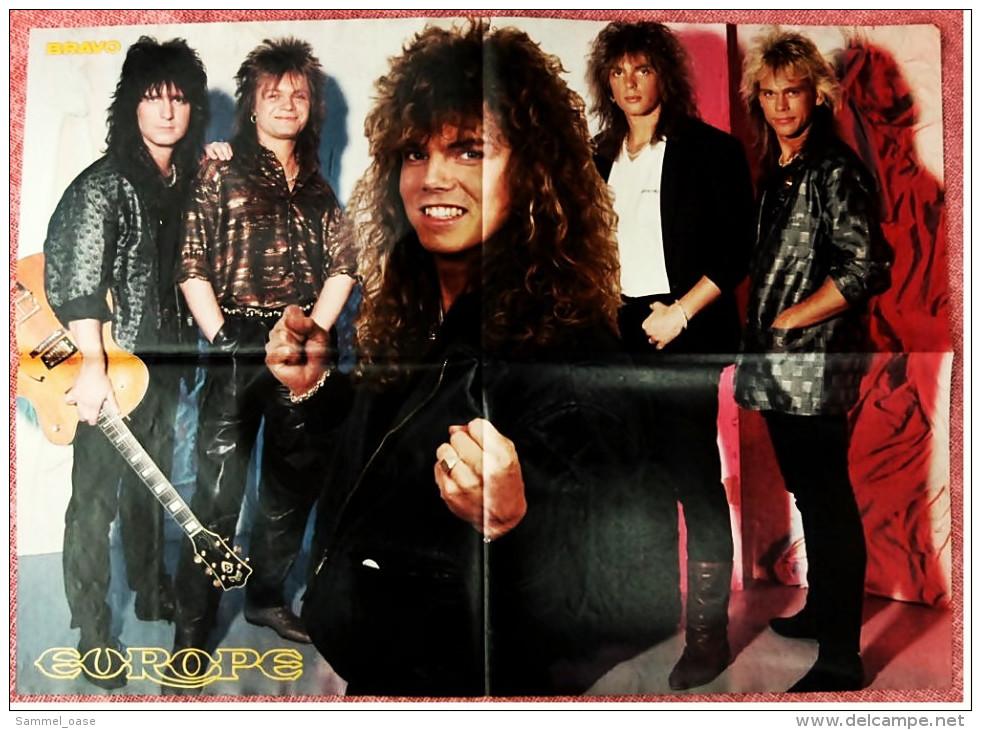 Musik Poster  Gruppe Europe  -  Rückseite : Bonnie & Pierre  -  Von Bravo Ca. 1982 - Manifesti & Poster