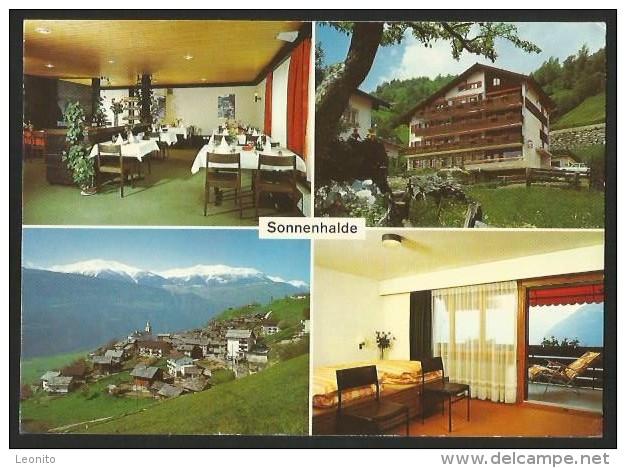 AUSSERBERG VS Lötschberg Südrampe Raron Hotel SONNENHALDE 1980 - VS Valais
