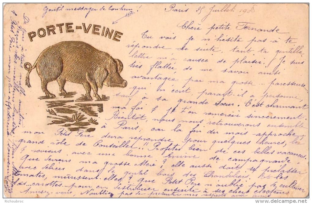 PORTE VEINE / COCHON DORE / OR - Cochons