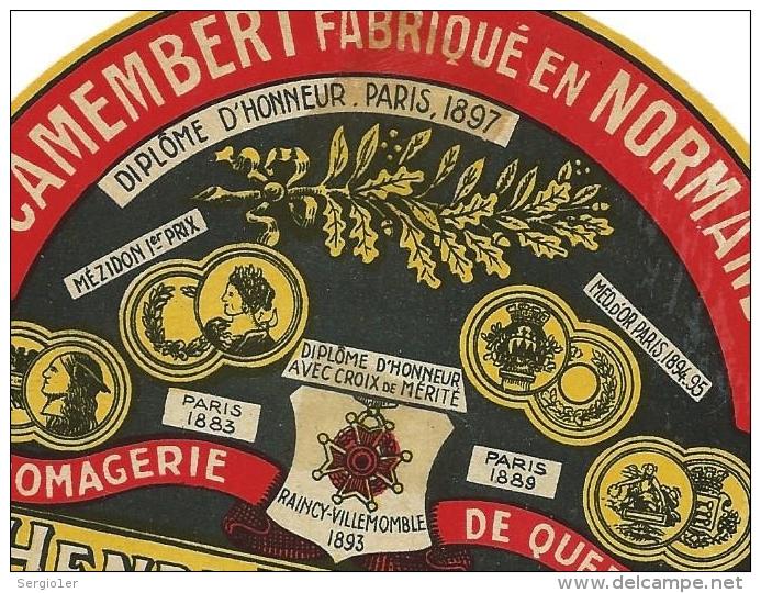 ancienne étiquette camembert A Eudeline St Pierre de Cormeilles